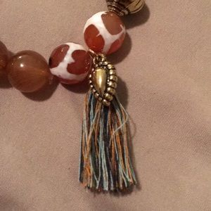 Vetta Jewelry - Brown glass bead Stretch Bracelet made in India